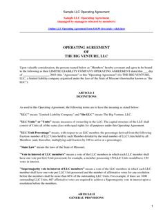 Download texas llc operating agreement template llc partnership free sample llc operating agreement by kennwood llc partnership agreement sample platinumwayz