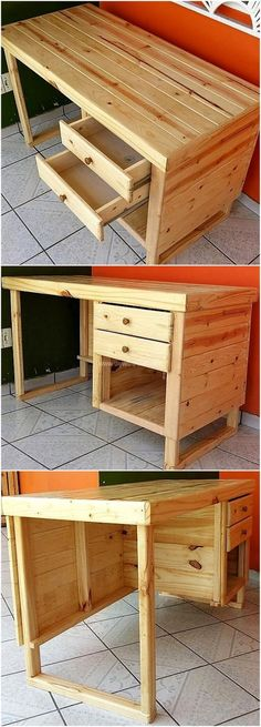 My pallet table is one of my most loved household items. On the off chance that you don't have one, you can without much of a stretch make one from few used pallets. This makes a true table that will flawlessly fit behind your lounge chair and not take up excessively room.