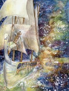 Эарендил Voyage of the Vingilot by Mellaril