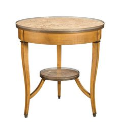 Image of Courselles Round Marble Top Side Table