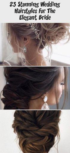 23 Stunning Wedding Hairstyles For The Elegant Bride - hariankoran Bridal Hair Up, Messy Wedding Hair, Elegant Wedding Hair, Elegant Bride, Wedding Bride, Wedding Hairstyles With Veil, Party Hairstyles, Messy Hairstyles, Messy Updo