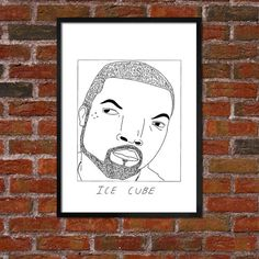 Am a big Badly Drawn fan (follow @badlydrawnmodels 0on #instagram) so rad to see his Ice Cube Poster - more rappers available by BadlyDrawnRappers #illustration #draw #rap #music #walls #design #print