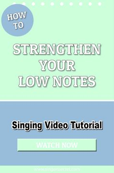 How To Strengthen Your Low Notes #singing #tutorial #music