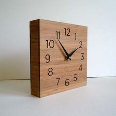 Modern Square Box Clock - Uncomplicated. $84.00, via Etsy.