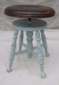 Image result for round piano stool annie sloan paint & Beautiful Antique PIANO STOOL with Ball u0026 Claw Feet | Piano stool ... islam-shia.org