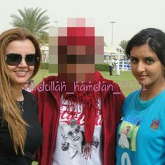 With Mahra and her mother, Zoe