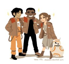 What are you doing. Storm pilot & Rey from Star Wars Episode VII The Force Awakens
