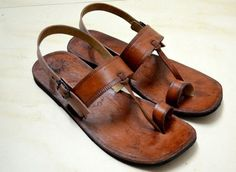 Moroccan Inspired Sling Back Leather Sandals-Handmade Sandals ...