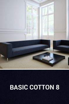 Dopasuj tkaninę Basic Cotton do wnętrza minimalistycznego. Couch, Cotton, Furniture, Home Decor, Settee, Decoration Home, Sofa, Room Decor, Home Furnishings