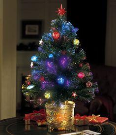 Green Clover Medium Fiber Optic Pre-lit Christmas Tree | Fiber ...