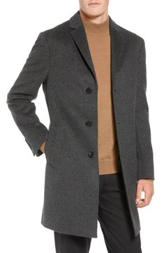 cdec15cb Mason Wool & Cashmere Overcoat, Main, color, CHARCOAL Nordstrom Rack,  Cashmere,