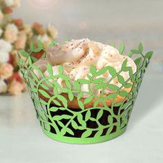 Mint Green 60 pcs wedding Cupcake Wrappers by mooncakeshop on Etsy, $47.50