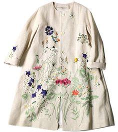 А не вышить ли что-нибудь... например, юбку или летнее пальто А мне попались совершенно очаровательные идеи для вышивания вещей, которые мы носим. Речь о повседневной одежде. Посмотрите, какие красив…
