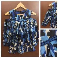 Hurry before stock runs out: Cut Work Camoufla..., visit http://ftfy.bargains/products/cut-work-camouflage-cold-shoulder-top-blue?utm_campaign=social_autopilot&utm_source=pin&utm_medium=pin  #amazing #affordable #fashion #stylish