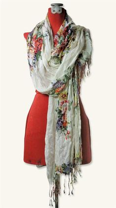 COTTAGE GARDEN SCARF from Victorian Trading Co.