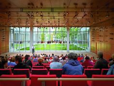 New York Times Building Renzo Piano & FXFOWLE - lecture/ performance space with glass
