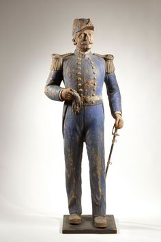 Admiral George Dewey Trade Figure, 19th century. This and more American folk art for sale on CuratorsEye.com