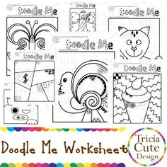 Doodling Worksheet! Great for back to school activities, art lessons, early finishers, and homework.Contained in the printable PDF file are 7 pages of doodling worksheets. Page 1: CoverPage 2-4: Students are required to complete the doodle by following the given patterns.Page 5-8: Students may follow the given patterns or use their creativity to create their own doodle in some of the empty spaces.Page 9: Terms of Use.Terms of Use: This is a digital download product.