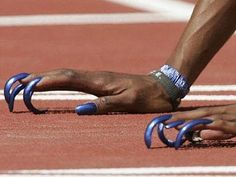 *****flo jo's nails. i knew there was a reason why i started running. Sport Inspiration, Fitness Inspiration, Gail Devers, Flo Jo, Jackie Joyner Kersee, East St Louis, Sport Editorial, Black History Month, Track And Field