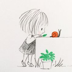 jane massey's pictures make me want to hug myself is part of pencil-drawings - illustrator Jane Massey &n… Doodle Drawings, Doodle Art, Easy Drawings, Drawing Sketches, Art And Illustration, Pencil Art, Pencil Drawings, Cute Art, Illustrators