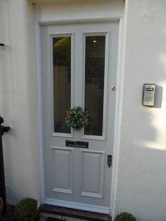 Farrow and Ball Cornforth white front door