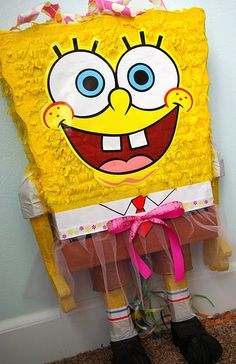 Pink tutu Spongebob party...so cute for a girl!