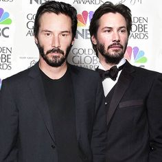 Celebrities old and young ~ Did Keanu age at all? *smile*
