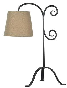 Shop for Becker Bronze Graphite Table Lamp. Get free delivery On EVERYTHING* Overstock - Your Online Lamps & Lamp Shades Store! Country Cottage Living, Cottage Living Rooms, Cozy Cottage, Table Lamps For Bedroom, Bedside Tables, Wrought Iron Gates, Wall Mounted Light, Lamp Shade Store, Stained Glass Lamps