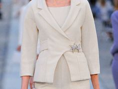 Lovely closure on this stunning Chanel suit