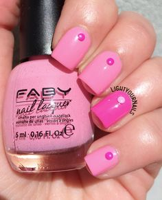 Pink manicure with Faby nail polish #lightyournails