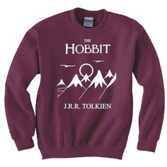HOBBIT, LORD OF THE RINGS, FRODO, BOOK COVER SWEATSHIRT NEW ❤ liked on Polyvore featuring tops