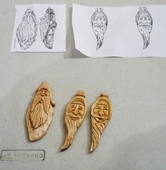 wood Christmas ornaments | wood ornament carving