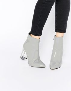 8009c0d8f1c Image 1 of Public Desire Claudia Clear Heeled Patent Boots Patent Leather  Boots