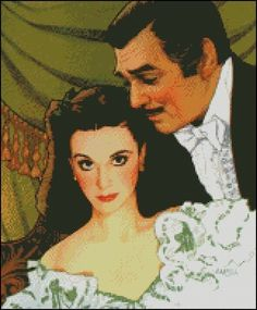 GONE WITH the WIND cross stitch pattern No.198 on Etsy, $4.99