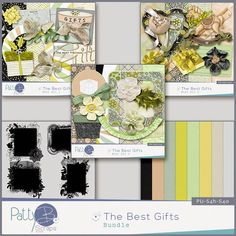 The Best Gifts Bundle The Best Gifts - has a subtle and sweet palette, and is a great collection for scrapping your holiday, and non-holiday family and friends' photos.