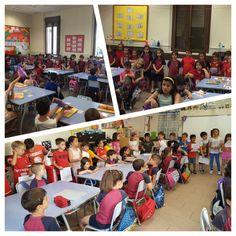 Els alumnes de P5 visiten les seves aules del proper curs a 1r de Primària