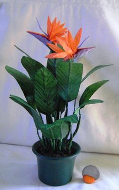 OOAK large bird of paradise plant 1/6 1/4 MJD 1/3BJD scale dollhouse minature