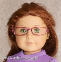 """Purple Fashion Glasses fit 18"""" American Girl Dolls - Clothes - Accessories in Dolls & Bears, Dolls, Clothes & Accessories 