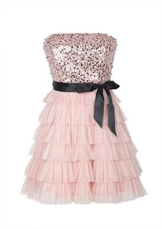 Sequin Tiered Dress! This is the dress that I wore to my valentines dance this year!! I wore it with a black belt that had black daisys on it.