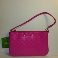 """✔️FINAL✔️Nwt Kate Spade Lolly Pink Wristlet ✔️The perfect pop of color  ✔️Brand new with tags and care card ✔️Bright pink color ✔️Kate Spade brand from the Kate Spade store ✔️Measures 8"""" long, 5"""" height ✔️Inside has 4 compartments for credit cards ✔️It does have a black mark on the back top left corner  ❌I don't trade, sorry❌ ✔️If questions may arise, please ask ✔️Have an amazing day!  """"Great Sense of Style"""" kate spade Bags Clutches & Wristlets"""