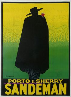 """Sandeman Porto"" poster by Massiot (1933)"