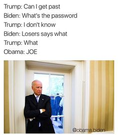 Here the best memes of Joe Biden and Barack Obama talking about pranking Donald Trump and Mike Pence when they move into the White House. Joe And Obama, Obama And Biden, Funny Quotes, Funny Memes, Jokes, Memes Humor, Monday Memes, Political Memes, Funny Politics