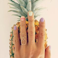 Golden Weaved Pineapple Ring from Hawaii (14K gold filled) by SALTYturquoise on Etsy