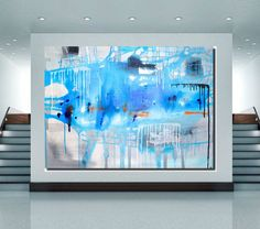 One of a kind Canvas painting Abstract painting by PooviArtGallery