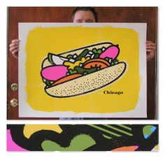 Chicago Style Hot Dog Delicious Design League - saw this in @Hannah Burque's kitchen pics too <3