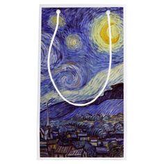 Vincent Van Gogh Starry Night Vintage Fine Art Small Gift Bag