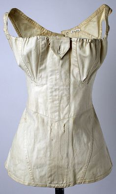 Cotton corset ca. 1811, American - in the Metropolitan Museum of Art costume collections.