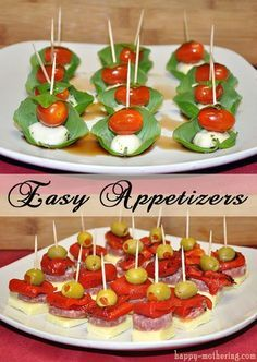 Easy Appetizers: Caprese and Antipasto Skewers Holiday Recipe Ideas easy holiday recipes Antipasto Skewers, Skewer Appetizers, Easy To Make Appetizers, Wedding Appetizers, Skewer Recipes, Finger Food Appetizers, Appetisers, Yummy Appetizers, Appetizer Recipes