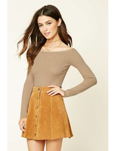 ribbed-knit-boat-neck-top by f21-contemporary  #dress #fashion #trends #onlineshopping #shoptagr