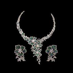 Diamond & Gemstone Flower Setting Necklace - #Diamond #Necklace   Necklaces & Pendants - Silver, Gold, & Diamond Necklaces